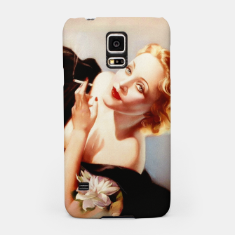 Thumbnail image of Marlene Dietrich Poses For Alberto Vargas Pin-up Art Samsung Case, Live Heroes