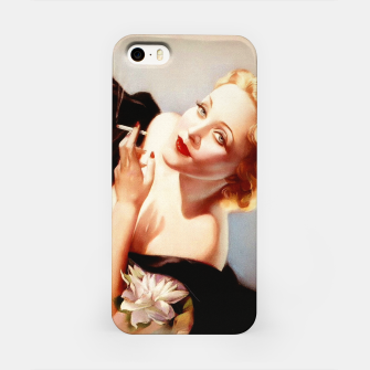 Thumbnail image of Marlene Dietrich Poses For Alberto Vargas Pin-up Art iPhone Case, Live Heroes