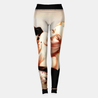 Thumbnail image of Marlene Dietrich Poses For Alberto Vargas Pin-up Art Leggings, Live Heroes