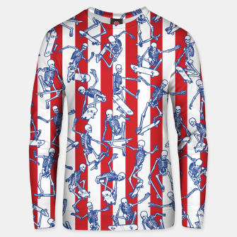 Skater USA American Flag Skateboarding Skeletons Pattern Unisex sweater thumbnail image