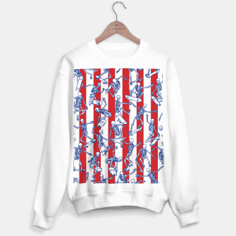 Skater USA American Flag Skateboarding Skeletons Pattern Sweater regular thumbnail image