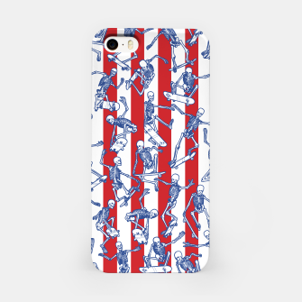 Skater USA American Flag Skateboarding Skeletons Pattern iPhone Case thumbnail image