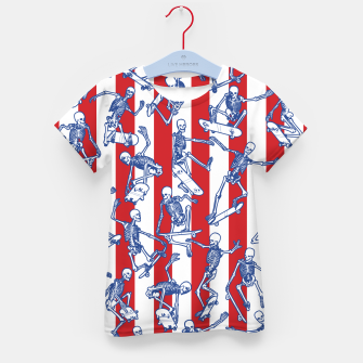 Thumbnail image of Skater USA American Flag Skateboarding Skeletons Pattern Kid's t-shirt, Live Heroes