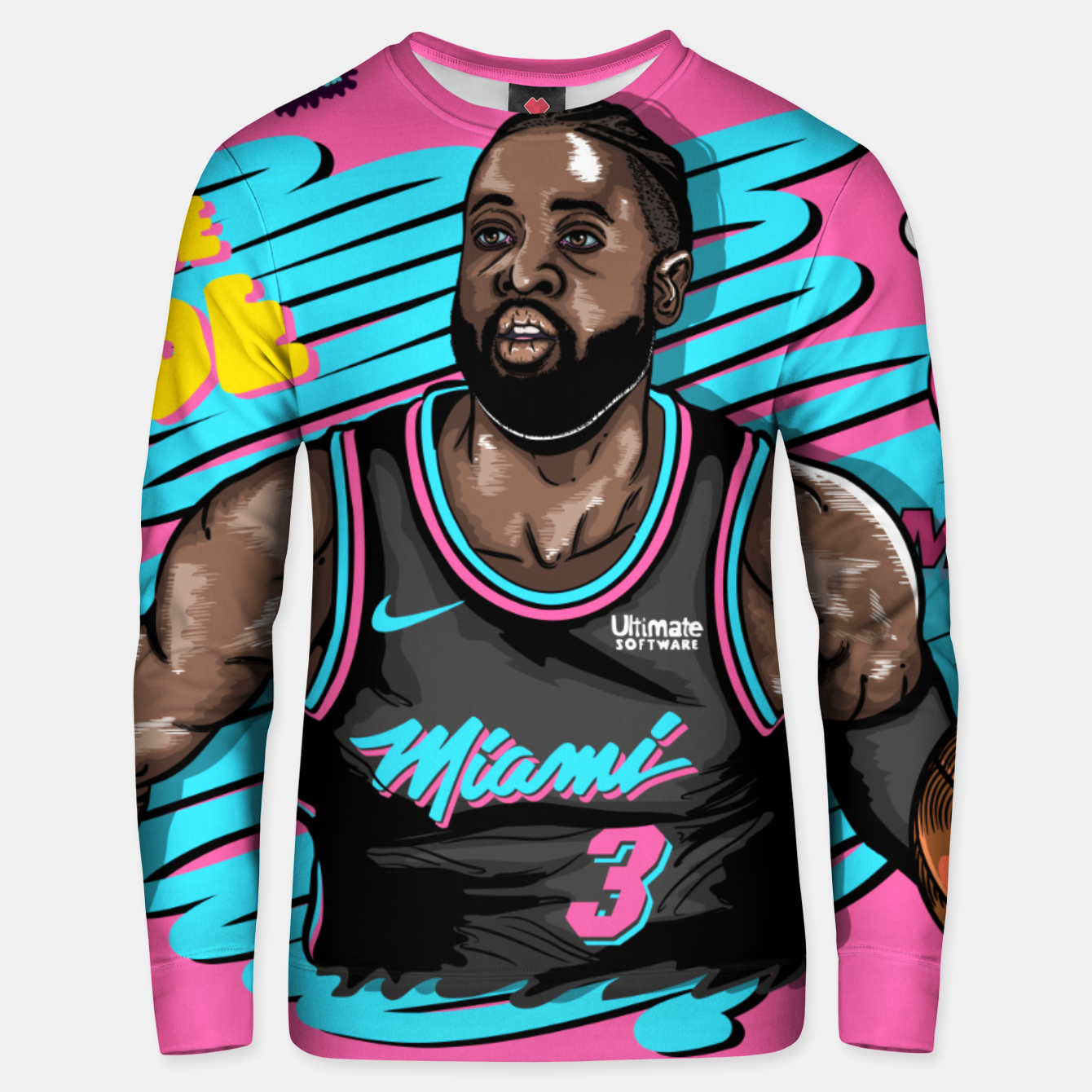 Image of Miami Heat Summer Wave Sudadera unisex - Live Heroes