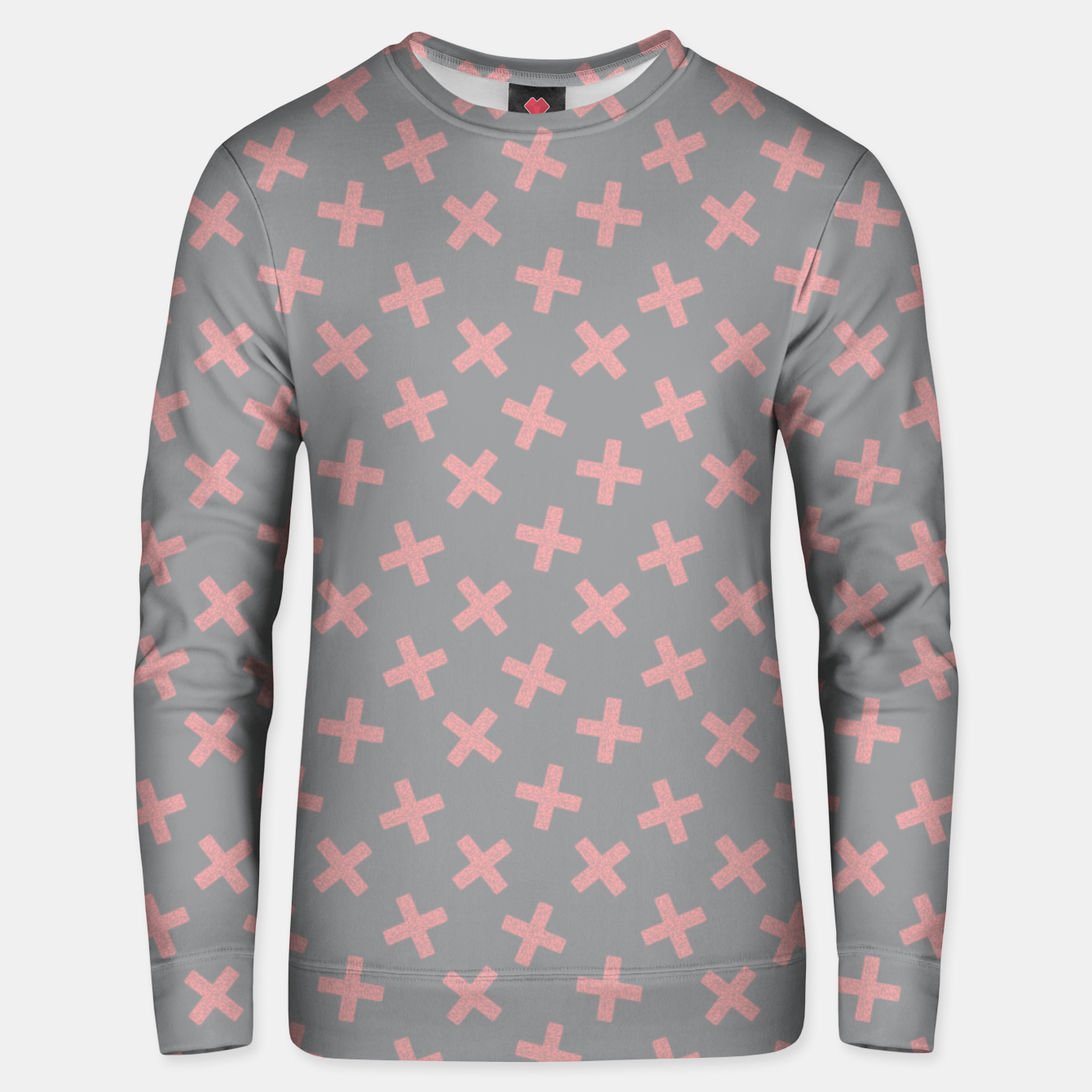 Image of ULTIMATE GRAY / PINK - CROSSES 3 Unisex sweater - Live Heroes