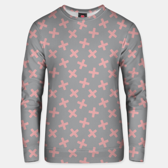 Thumbnail image of ULTIMATE GRAY / PINK - CROSSES 3 Unisex sweater, Live Heroes