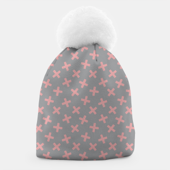 Thumbnail image of ULTIMATE GRAY / PINK - CROSSES 3 Beanie, Live Heroes