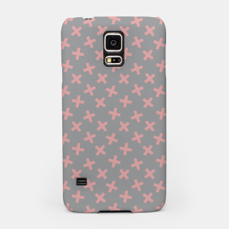 Thumbnail image of ULTIMATE GRAY / PINK - CROSSES 3 Samsung Case, Live Heroes