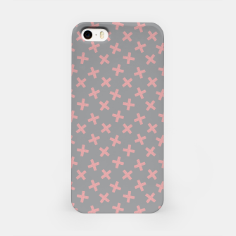 Thumbnail image of ULTIMATE GRAY / PINK - CROSSES 3 iPhone Case, Live Heroes