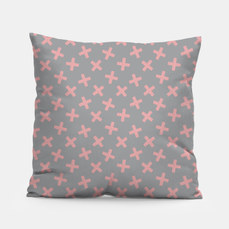 Thumbnail image of ULTIMATE GRAY / PINK - CROSSES 3 Pillow, Live Heroes