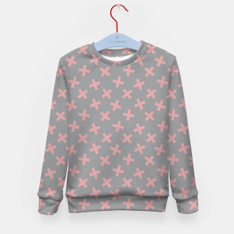 Thumbnail image of ULTIMATE GRAY / PINK - CROSSES 3 Kid's sweater, Live Heroes