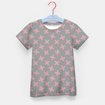 Thumbnail image of ULTIMATE GRAY / PINK - CROSSES 3 Kid's t-shirt, Live Heroes