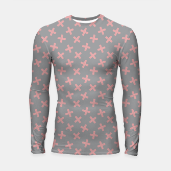 Thumbnail image of ULTIMATE GRAY / PINK - CROSSES 3 Longsleeve rashguard , Live Heroes