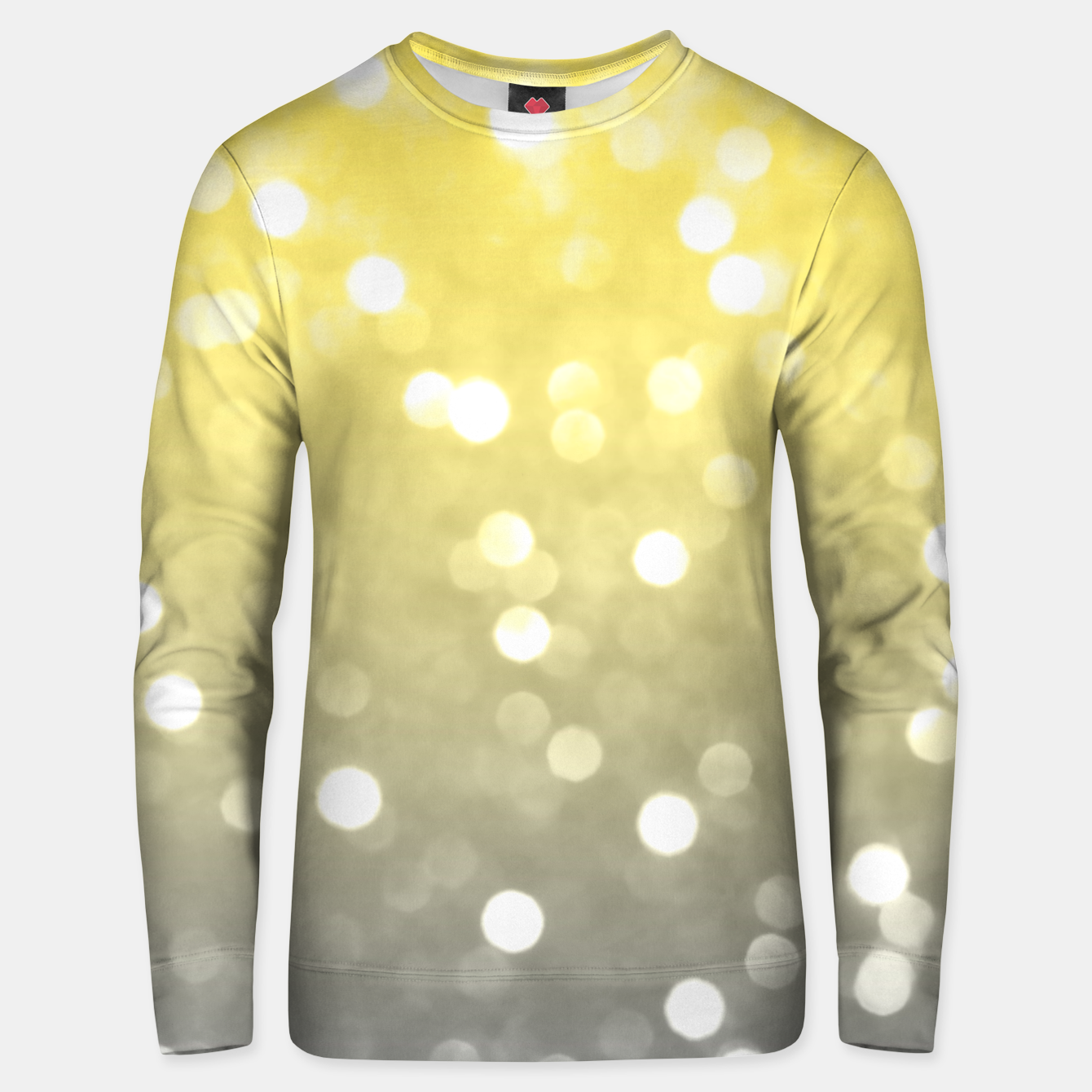 Image of Ultimate grey illuminating yellow sparkly bokeh Unisex sweater - Live Heroes