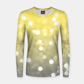 Ultimate grey illuminating yellow sparkly bokeh Women sweater thumbnail image
