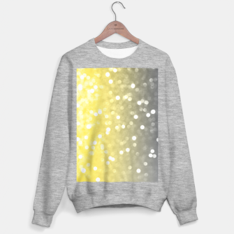 Ultimate grey illuminating yellow sparkly bokeh Sweater regular thumbnail image