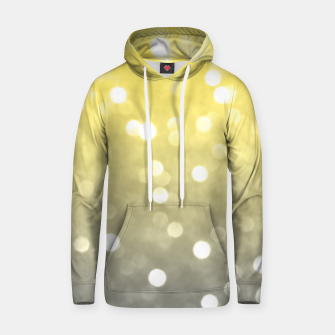 Ultimate grey illuminating yellow sparkly bokeh Hoodie thumbnail image