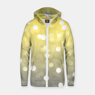 Ultimate grey illuminating yellow sparkly bokeh Zip up hoodie thumbnail image
