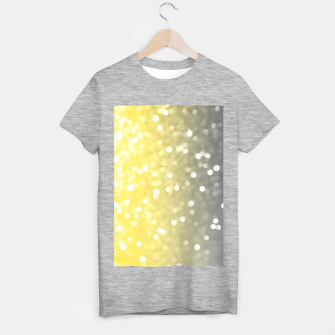 Thumbnail image of Ultimate grey illuminating yellow sparkly bokeh T-shirt regular, Live Heroes