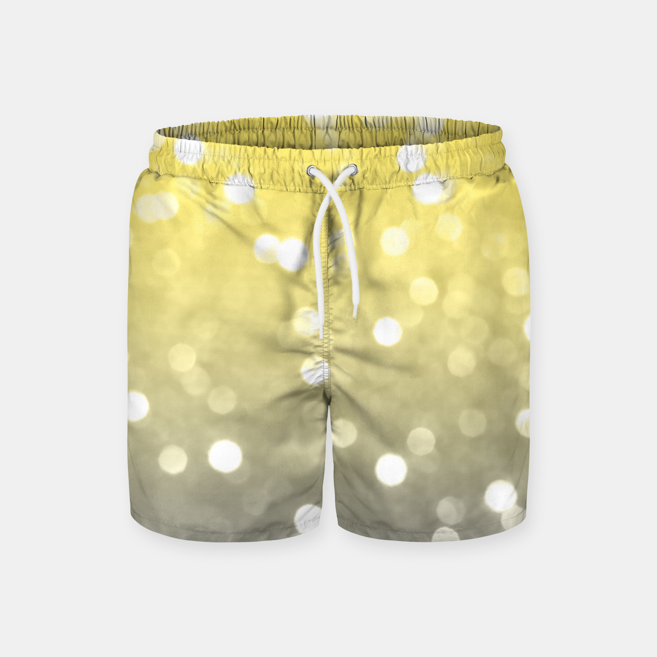 Image of Ultimate grey illuminating yellow sparkly bokeh Swim Shorts - Live Heroes