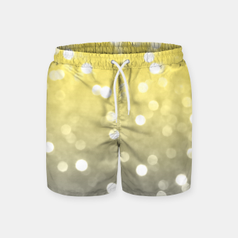 Ultimate grey illuminating yellow sparkly bokeh Swim Shorts thumbnail image