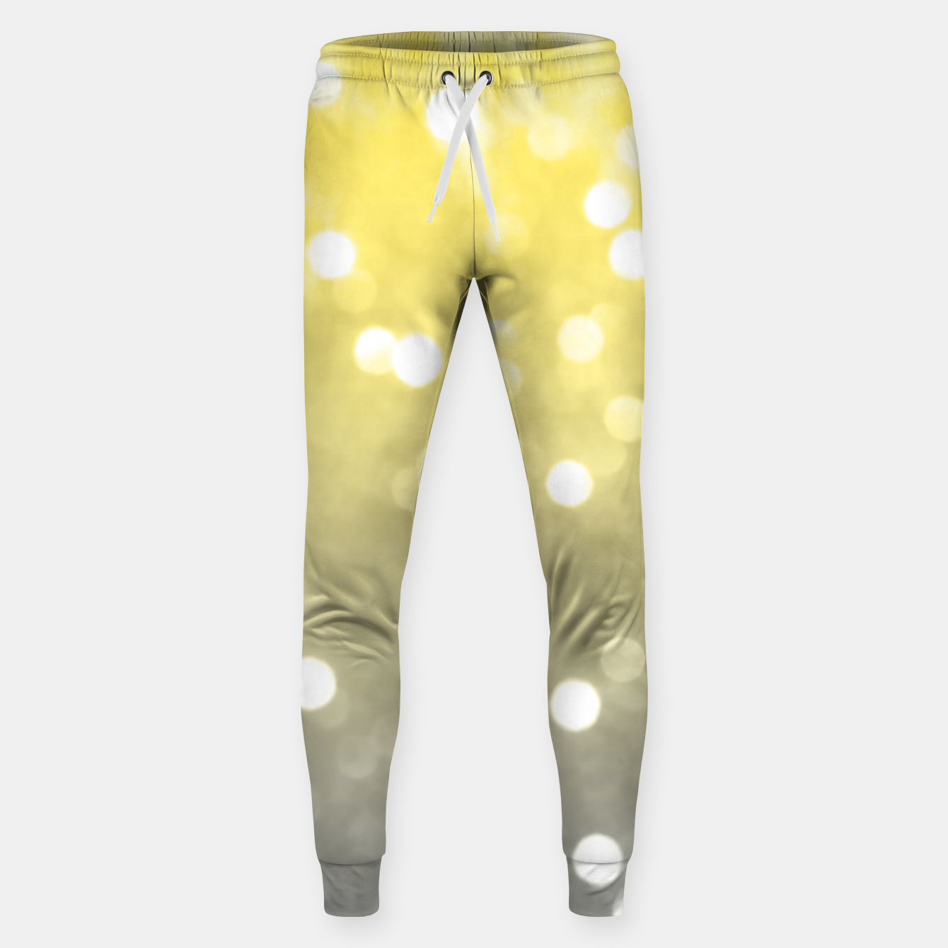 Image of Ultimate grey illuminating yellow sparkly bokeh Sweatpants - Live Heroes