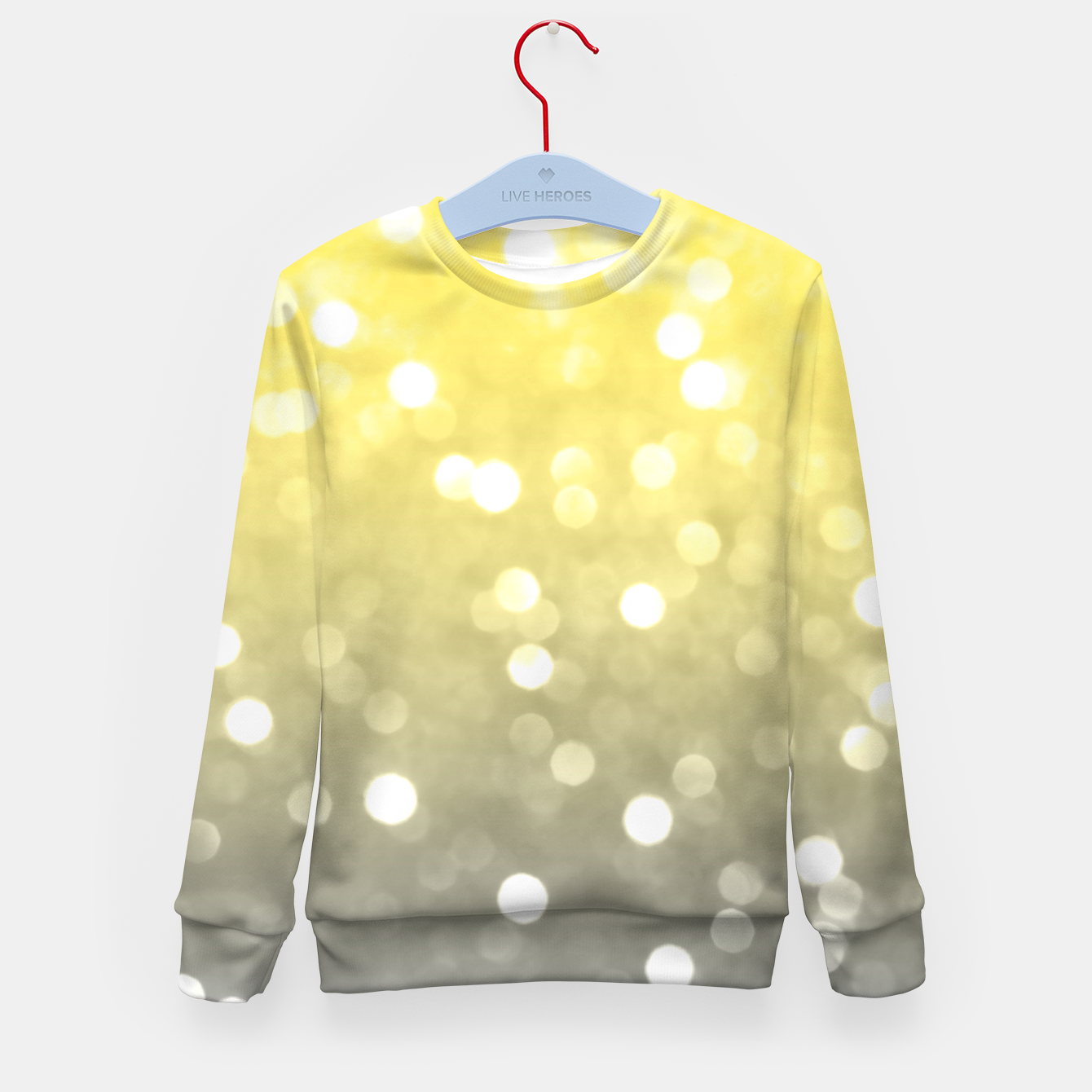 Image of Ultimate grey illuminating yellow sparkly bokeh Kid's sweater - Live Heroes