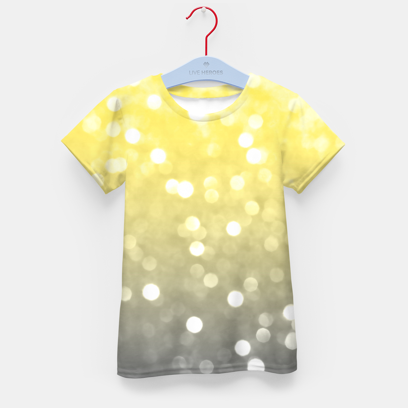 Image of Ultimate grey illuminating yellow sparkly bokeh Kid's t-shirt - Live Heroes