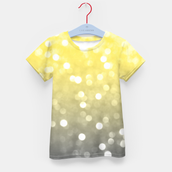 Thumbnail image of Ultimate grey illuminating yellow sparkly bokeh Kid's t-shirt, Live Heroes