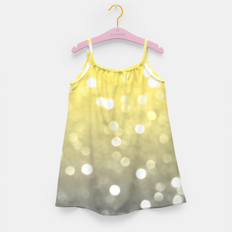Thumbnail image of Ultimate grey illuminating yellow sparkly bokeh Girl's dress, Live Heroes