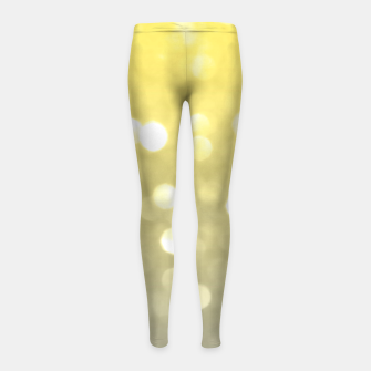 Ultimate grey illuminating yellow sparkly bokeh Girl's leggings thumbnail image