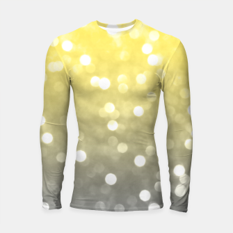 Thumbnail image of Ultimate grey illuminating yellow sparkly bokeh Longsleeve rashguard , Live Heroes