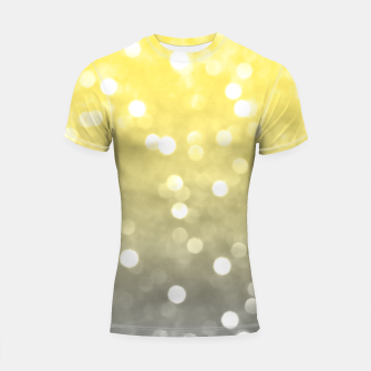 Thumbnail image of Ultimate grey illuminating yellow sparkly bokeh Shortsleeve rashguard, Live Heroes