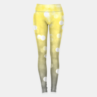 Thumbnail image of Ultimate grey illuminating yellow sparkly bokeh Leggings, Live Heroes