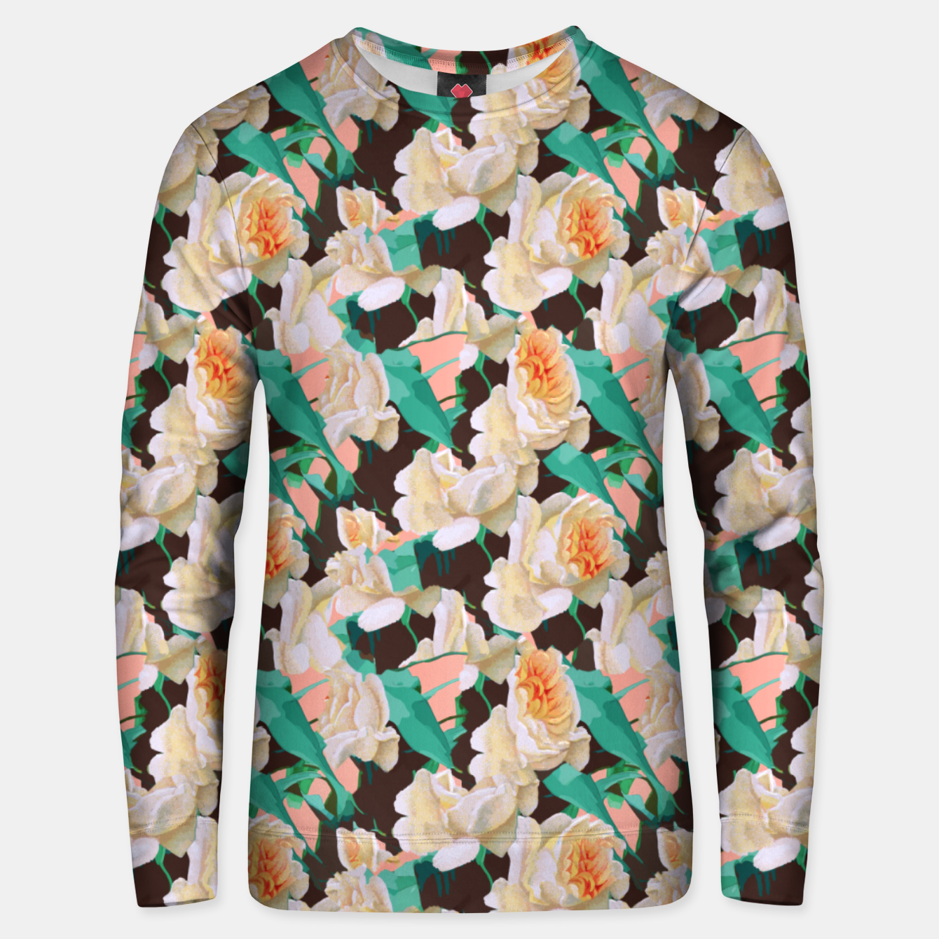 Image of Tropical & White Blossom Unisex sweater - Live Heroes