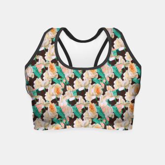Miniatur Tropical & White Blossom Crop Top, Live Heroes