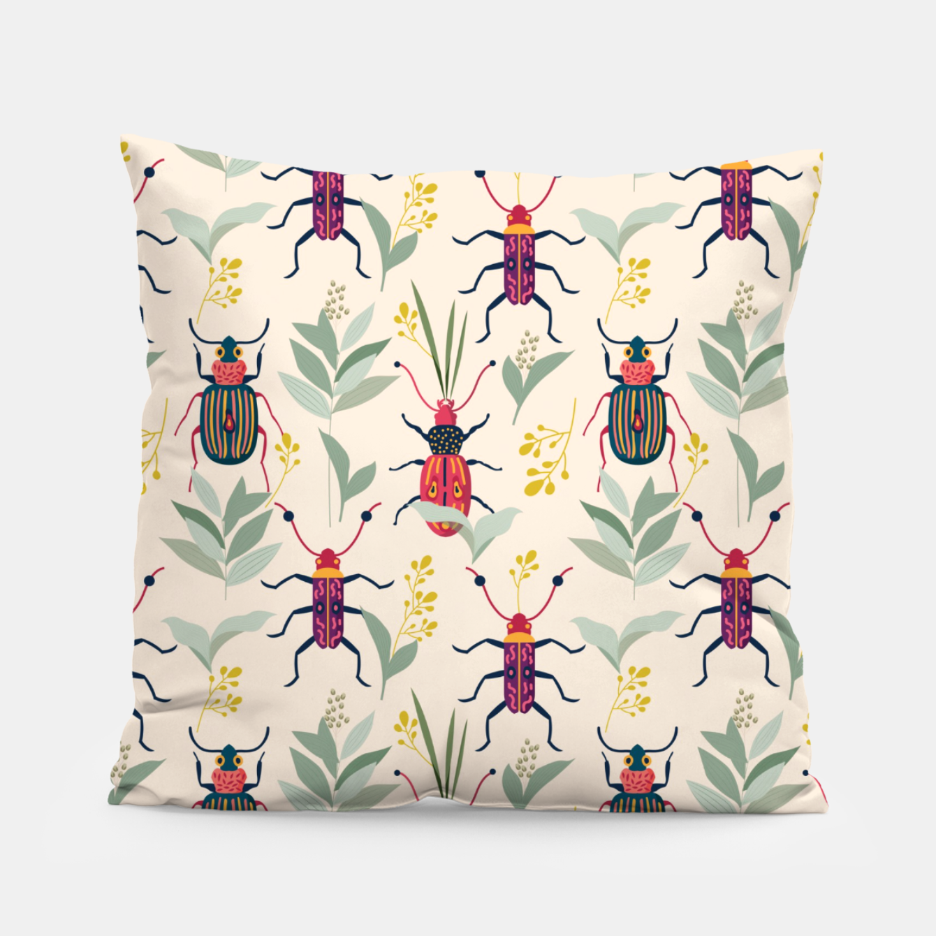 Image of Summer Bugs Pillow - Live Heroes