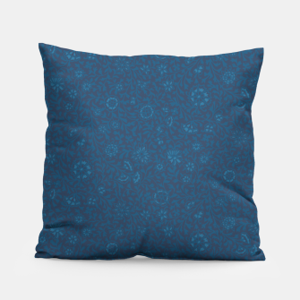 Thumbnail image of Wild Succory Meadow in Blue Pillow, Live Heroes