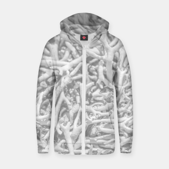 Thumbnail image of Dry Roots Texture Print Zip up hoodie, Live Heroes