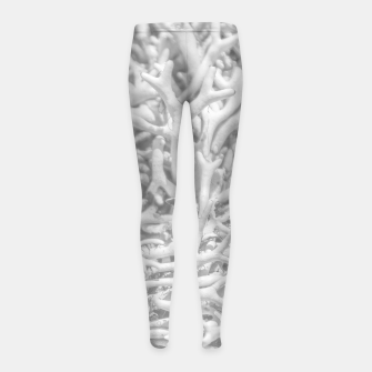 Miniatur Dry Roots Texture Print Girl's leggings, Live Heroes
