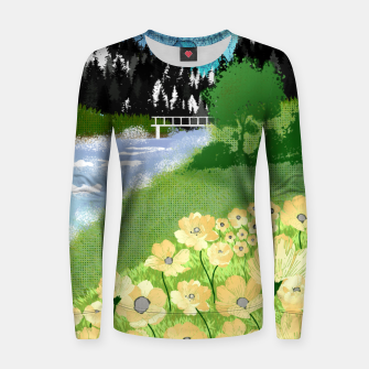 Thumbnail image of Buttercup Mountain- Forest Women sweater, Live Heroes