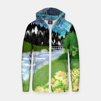 Thumbnail image of Buttercup Mountain- Forest Zip up hoodie, Live Heroes