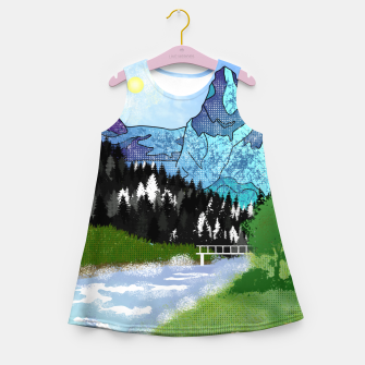 Miniature de image de Buttercup Mountain- Forest Girl's summer dress, Live Heroes