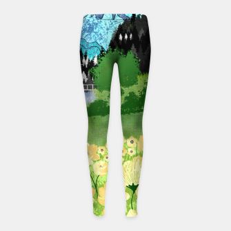 Miniature de image de Buttercup Mountain- Forest Girl's leggings, Live Heroes