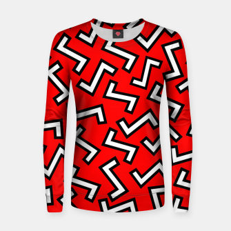 Thumbnail image of 80s Red Women sweater, Live Heroes