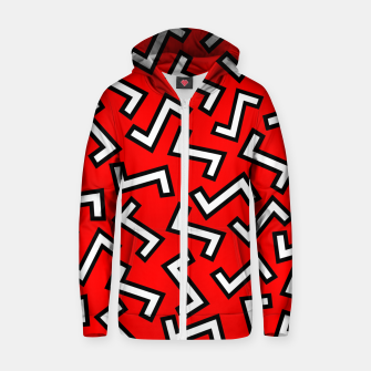 Thumbnail image of 80s Red Zip up hoodie, Live Heroes