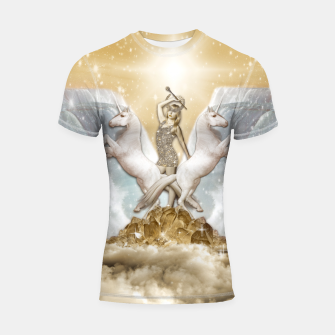 Thumbnail image of THE CHARIOT TAROT CARD Shortsleeve rashguard, Live Heroes