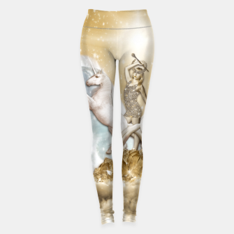 THE CHARIOT TAROT CARD Leggings thumbnail image
