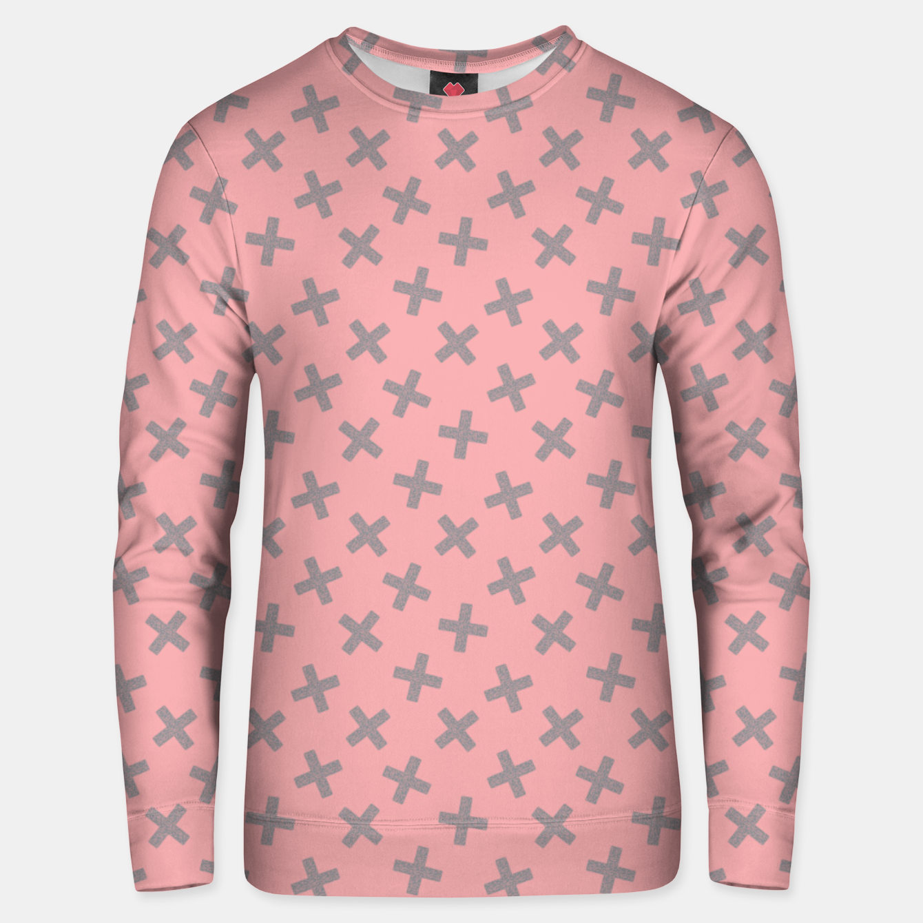 Image of ULTIMATE GRAY / PINK - CROSSES 2 Unisex sweater - Live Heroes
