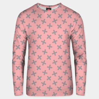 Thumbnail image of ULTIMATE GRAY / PINK - CROSSES 2 Unisex sweater, Live Heroes